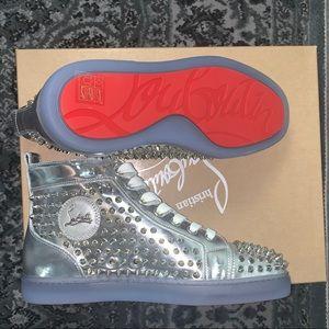 Christian Louboutin Silver Spike sneaker 40.5//7.5